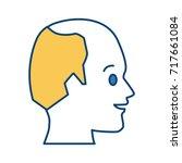 man head silhouette   Shutterstock .eps vector #717661084