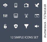 set of 12 multimedia icons set... | Shutterstock .eps vector #717661618