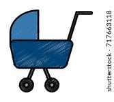 baby pram symbol | Shutterstock .eps vector #717663118