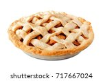 homemade apple pie with lattice ...   Shutterstock . vector #717667024