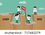 the difference between leader... | Shutterstock .eps vector #717682279