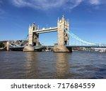tower bridge of london sunny day | Shutterstock . vector #717684559