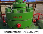 the bolts and nuts on the... | Shutterstock . vector #717687694