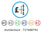 baby pound budget rounded icon. ... | Shutterstock .eps vector #717688744