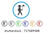 gentleman flag guide rounded... | Shutterstock .eps vector #717689488
