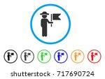 gentleman commander rounded... | Shutterstock .eps vector #717690724
