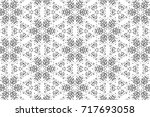 ornament with elements of black ... | Shutterstock . vector #717693058