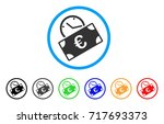 euro recurring payment rounded... | Shutterstock .eps vector #717693373
