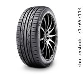 car tire isolated on white...   Shutterstock . vector #717697114