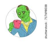 grime art style illustration of ... | Shutterstock .eps vector #717698038