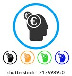 euro businessman intellect icon.... | Shutterstock .eps vector #717698950