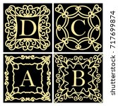 a set of templates for creating ... | Shutterstock . vector #717699874