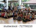 blur children group with... | Shutterstock . vector #717700210
