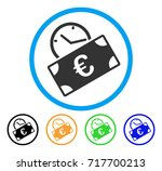 euro recurring payment icon.... | Shutterstock .eps vector #717700213