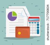 saving money concept  | Shutterstock .eps vector #717700834