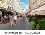 paris france   august 1 2017 ...   Shutterstock . vector #717703606