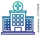 hospital building isolated icon | Shutterstock .eps vector #717704248