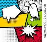 pop art comics book magazine... | Shutterstock .eps vector #717706798