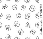 seamless pattern with... | Shutterstock . vector #717707998