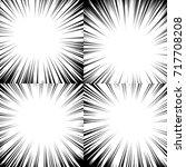 comic book radial lines... | Shutterstock . vector #717708208