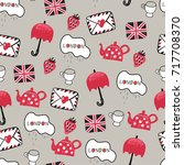 funny vector childish british... | Shutterstock .eps vector #717708370