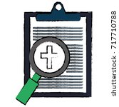 medical order with magnifying... | Shutterstock .eps vector #717710788