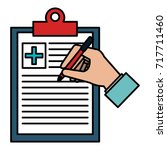 medical order with pencil... | Shutterstock .eps vector #717711460