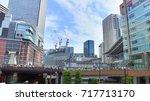 osaka station  japan. is a... | Shutterstock . vector #717713170