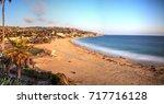 golden hour over the ocean... | Shutterstock . vector #717716128