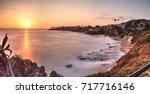 Sunset Over The Ocean Through A ...