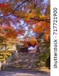 manshuin temple emperor's gate... | Shutterstock . vector #717721900