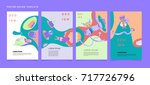 colorful abstract liquid and...   Shutterstock .eps vector #717726796