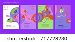 colorful abstract liquid and... | Shutterstock .eps vector #717728230