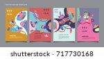 abstract  colorful liquid and... | Shutterstock .eps vector #717730168