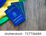 brazilian work document and... | Shutterstock . vector #717736684