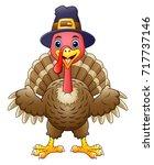 cartoon happy turkey | Shutterstock . vector #717737146