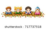 vector illustration of kids... | Shutterstock .eps vector #717737518