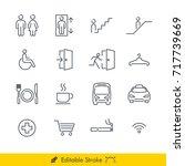 simple public navigation signs... | Shutterstock .eps vector #717739669