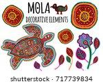 beautiful ethnic vector...   Shutterstock .eps vector #717739834