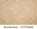 burlap texture background | Shutterstock . vector #717742060