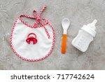 mother care breast milk in... | Shutterstock . vector #717742624