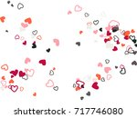 red grey valentine's day... | Shutterstock .eps vector #717746080