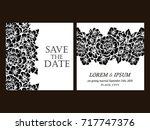 vintage delicate invitation... | Shutterstock .eps vector #717747376