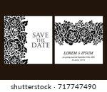 vintage delicate invitation... | Shutterstock .eps vector #717747490