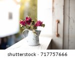 Dried Flowers Vase On The...