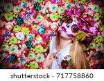 dia de los muertos. day of the... | Shutterstock . vector #717758860