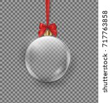 vector realistic transparent... | Shutterstock .eps vector #717763858