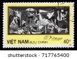 vietnam   circa 1987  a stamp...   Shutterstock . vector #717765400