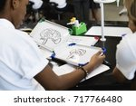students learning biology... | Shutterstock . vector #717766480