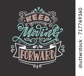 keep moving forward. hand... | Shutterstock .eps vector #717769360